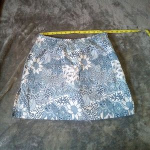 Kim Rogers blue and white size 12 skort